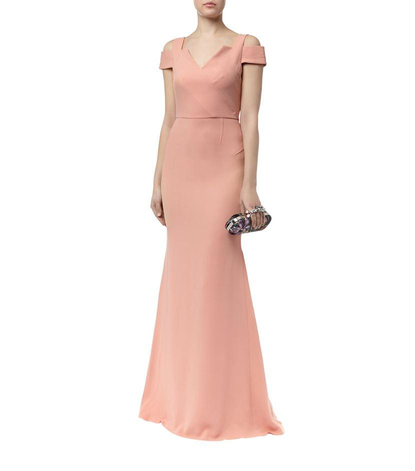 Roland Mouret Nansen dress in dusky pink