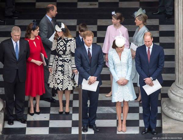 Royal Family at St. Pauls