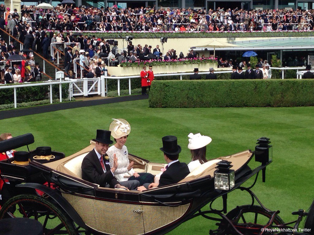 William and Kate in the Carriage at Ascot