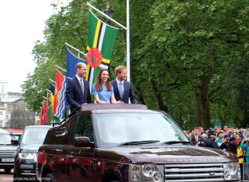William, Kate and Harry at The Patron's Lunch