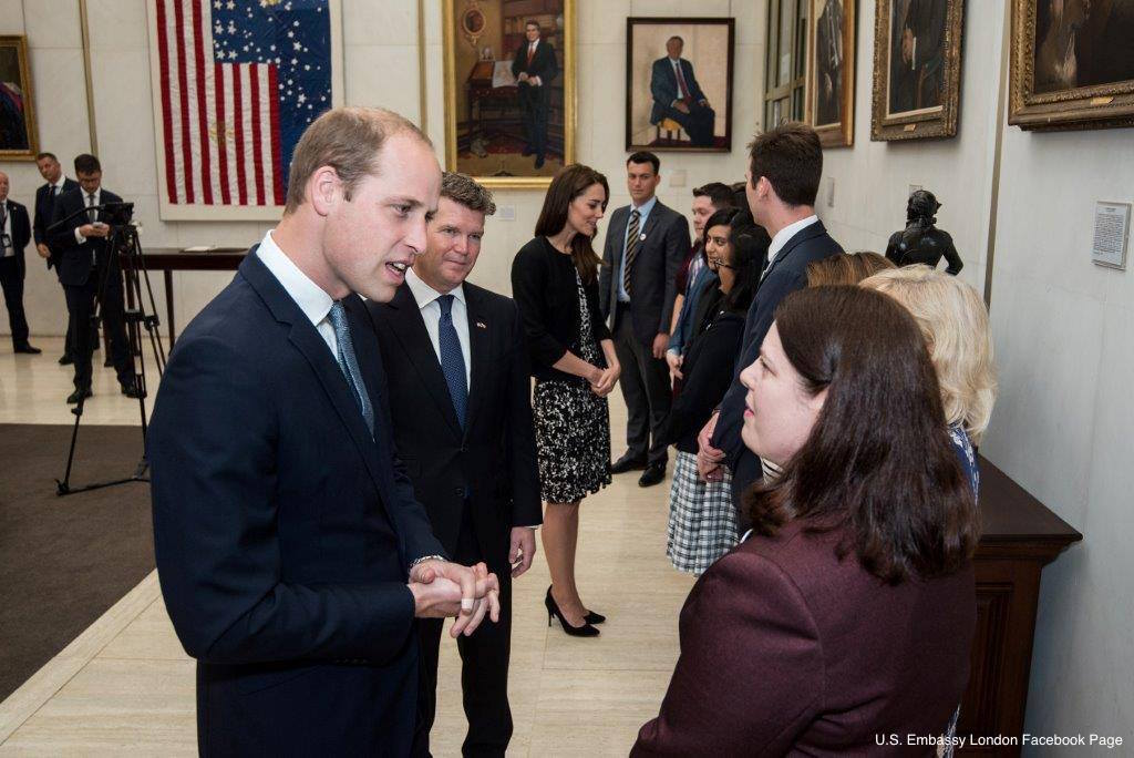 William and Kate at the US embassy in London