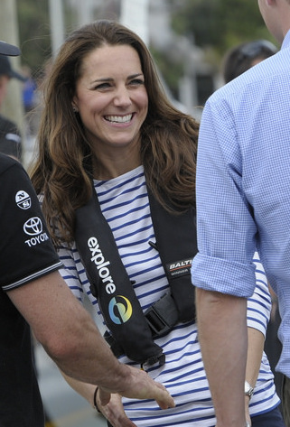 Duchess of Cambridge wearing ME+EM top
