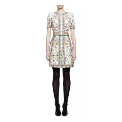Kate Middleton wears the Alexander McQueen dress in the Obsession print