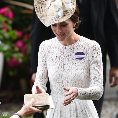 Kate Middleton Carrying The L K Bennett Box Clutch Bag