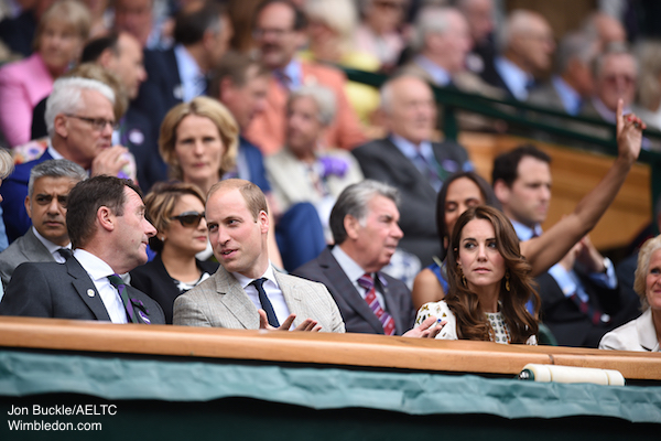 William and Kate watching Wimbledon
