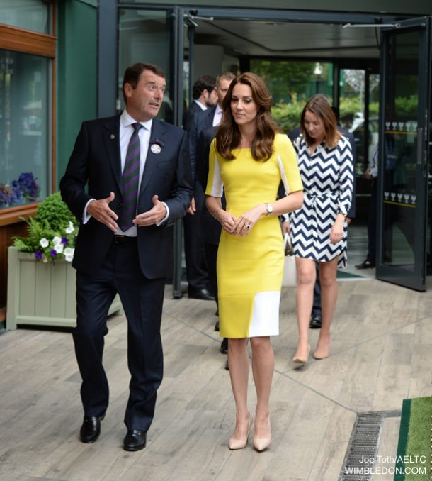 Kate Middleton's yellow dress at Wimbledon 2016