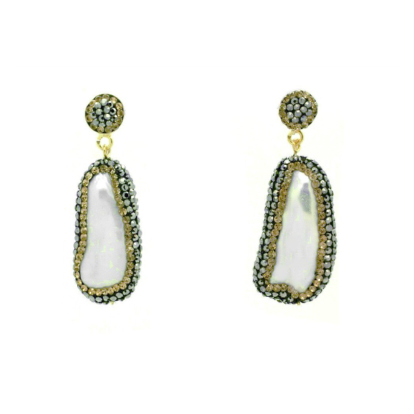 Soru Jewellery Baroque Pearl Earrings