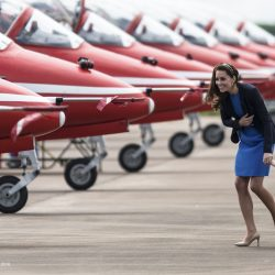 William & Kate take Prince George to the world's biggest air show