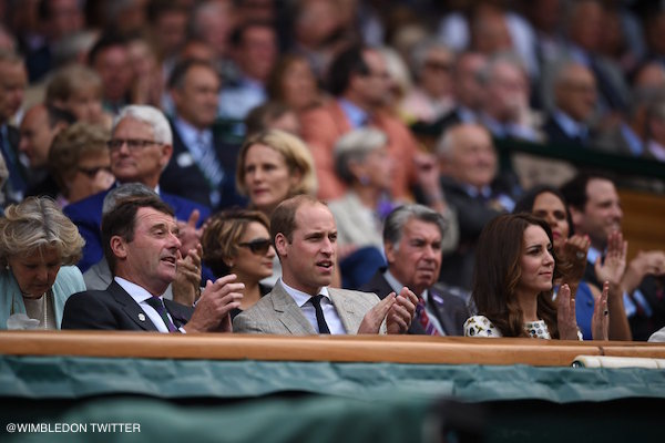 William and Kate watching Wimbledon Final with Andy Murray