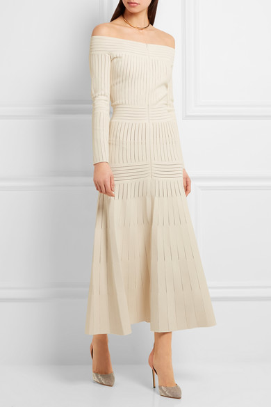 Barbara Casaola off shoulder dress