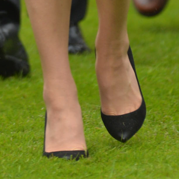 Kate Middleton wearing her black Gianvito Rossi pumps at the Somme Centenary commemorations