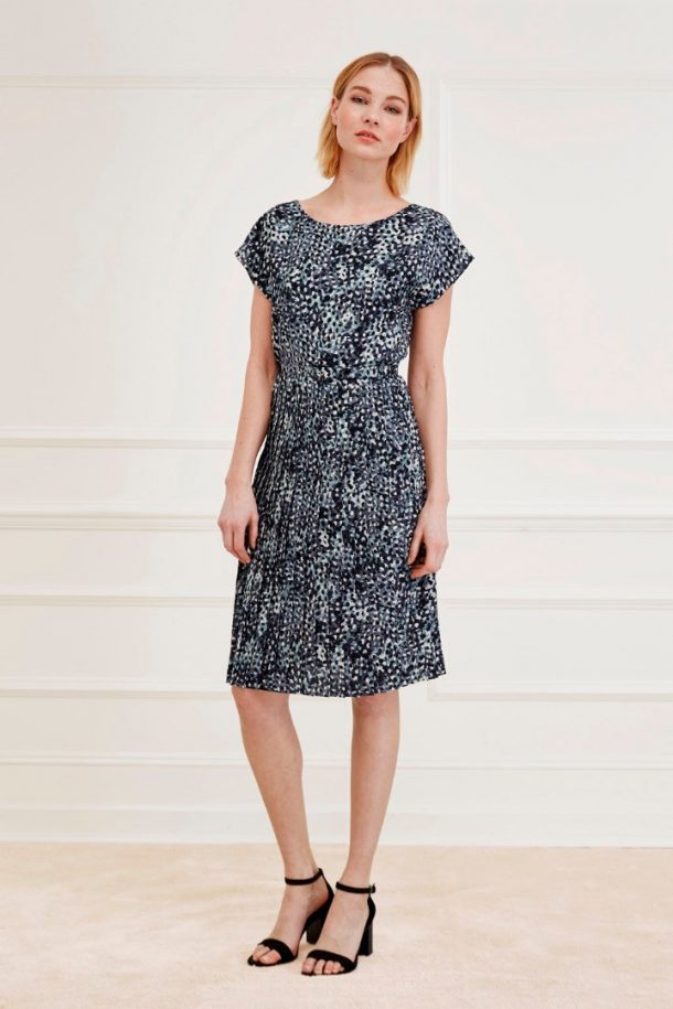 Great Plains Cezanne Dress in ebony and navy blue