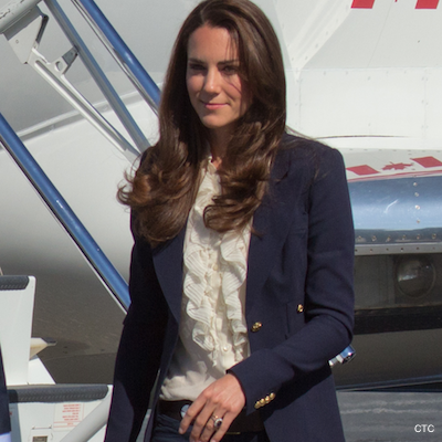 Kate Middleton wearing a blue blazer