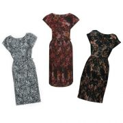 Kate Middleton's three Great Plains Cezanne dresses: ebony & blue, pine needle green and winter pink