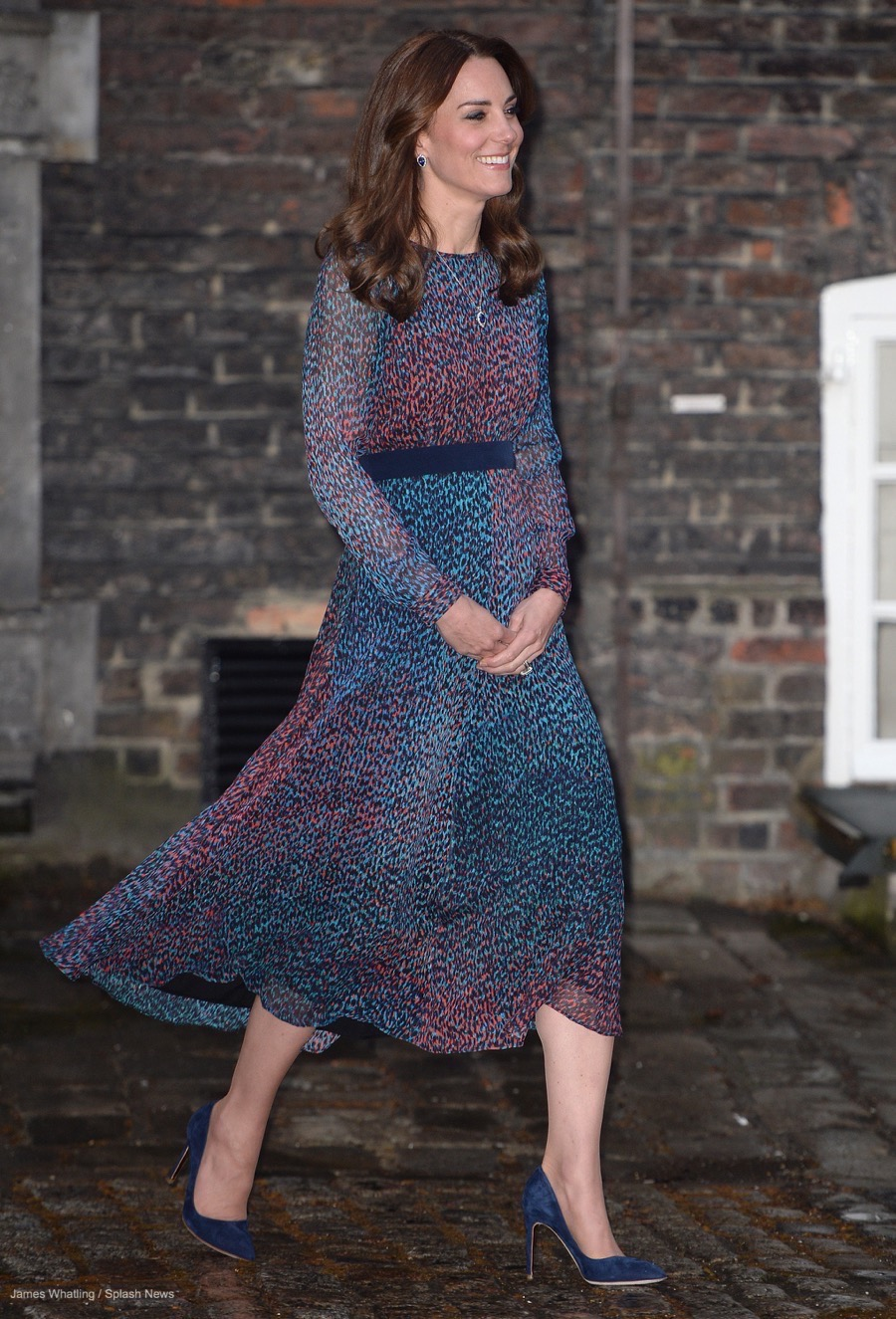 Kate Middleton wearing the L.K. Bennett Addison Dress