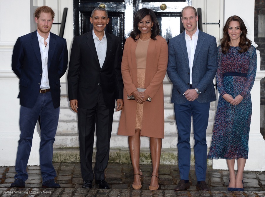 Kate Middleton meeting the Obamas in 2016