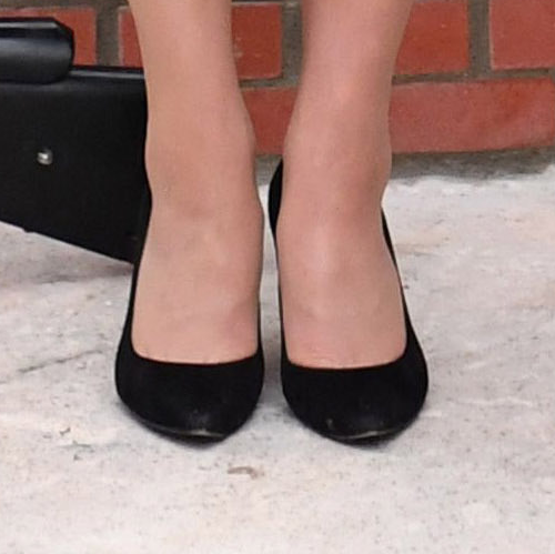 Kate Midldeton's Gianvito Rossi shoes in black suede
