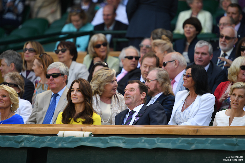 Kate Middleton watches women's semi-finals at Wimbledon 2016