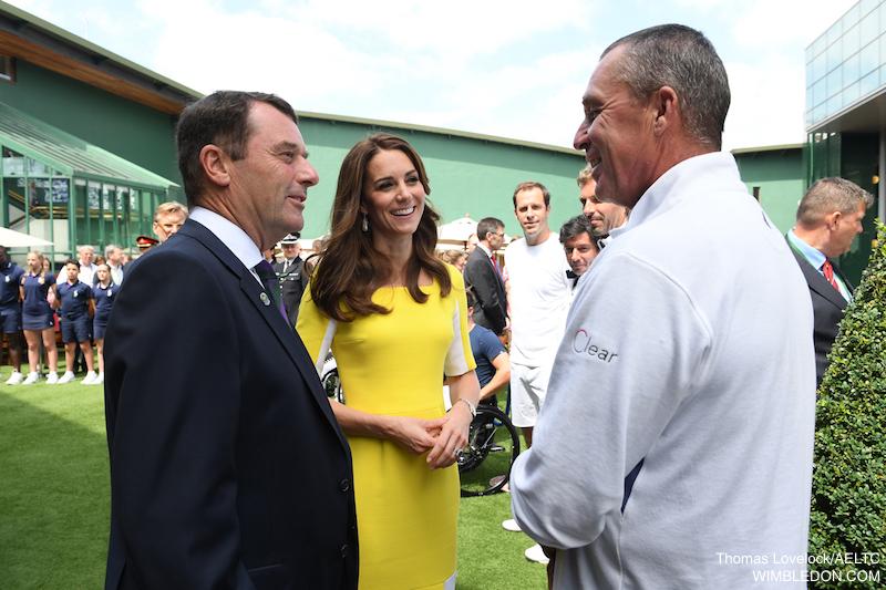 Kate repeats yellow Roksanda dress at Wimbledon