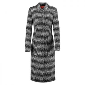 Missoni Grey Zigzag Print Coat