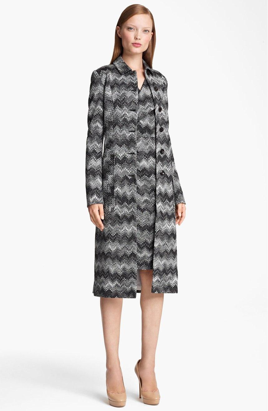 Missoni grey zigzag coat