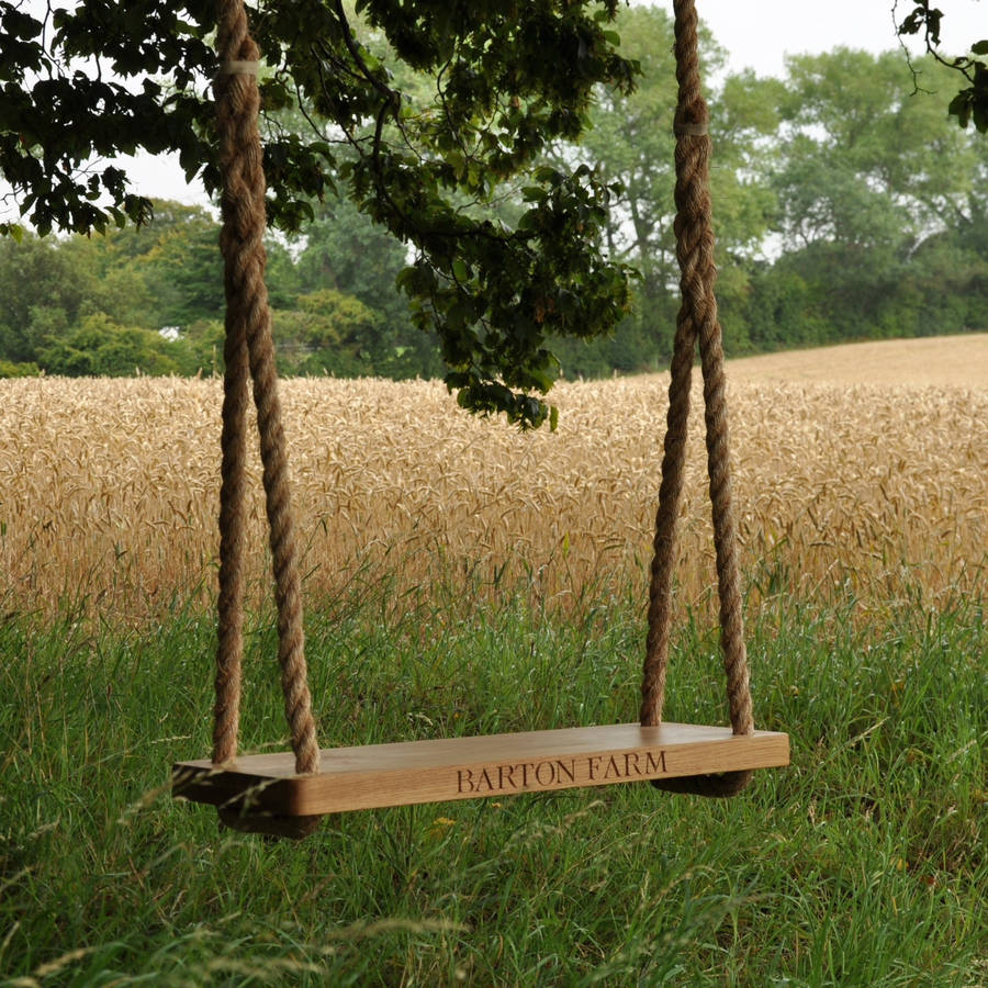 Oak & the Rope Personalised Swing
