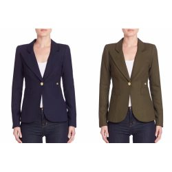 Smythe Duchess / One Button Blazer worn by Kate Middleton in blue and green
