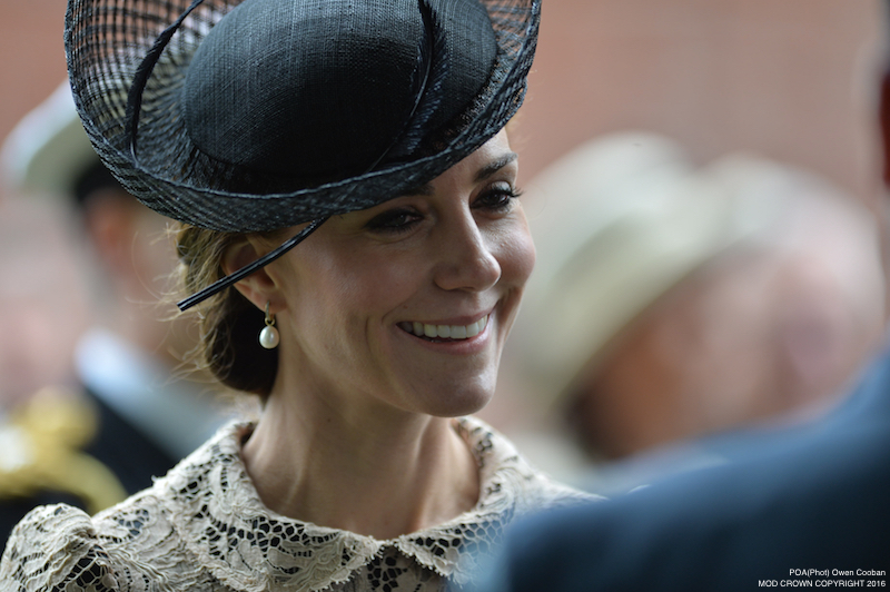 Image shows the Duchess of Cambridge after the service at Thiepval concluded. Members of the Royal Family have joined the Prime Minister and representatives of allies and former enemies, together with hundreds of Armed Forces personnel and 10,000 guests to mark the centenary of the Battle of the Somme at an international service of commemoration in France.Representatives of all the regiments that took part in the conflict 100 years ago attended the service at the Thiepval Memorial along with a Guard of Honour from the Irish Guards and guns of the King's Troop Royal Horse Artillery. Servicemen and women took part in the service, reading moving accounts of the battle from those who went over the top on the 1 July 1916.The King's Troop Royal Horse Artillery fired their guns to mark the end of a period of silence, and wreaths were laid at the Cross of Sacrifice.The guns are 13 Pounder Quick Fire guns, and saw service in the First World War. art in commemorative services in both Thiepval and Manchester.