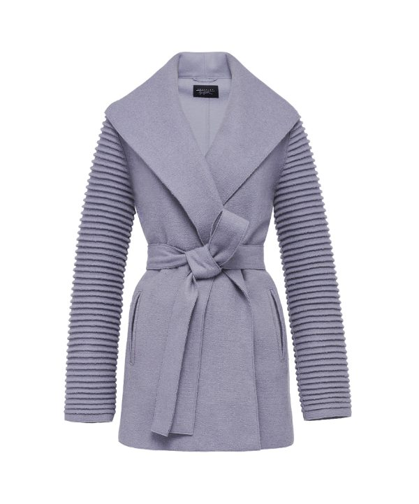 Kate Middleton's grey wrap coat by Sentaler