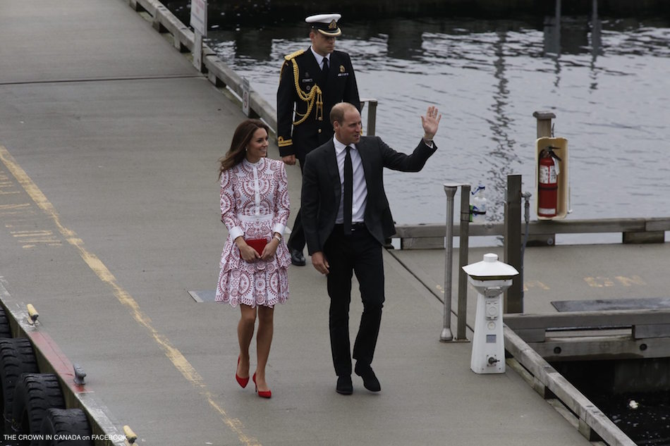 William and Kate arrive in Vancouver