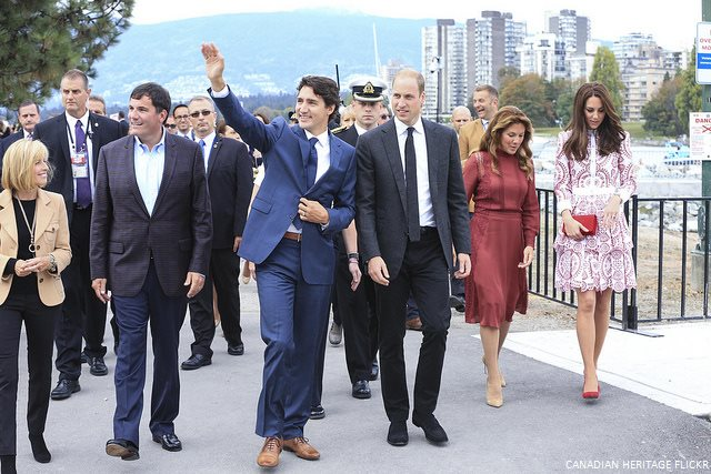 Justin Trudeau, Sophie Trudeau, Prince William and Kate Middleton in Vancouver