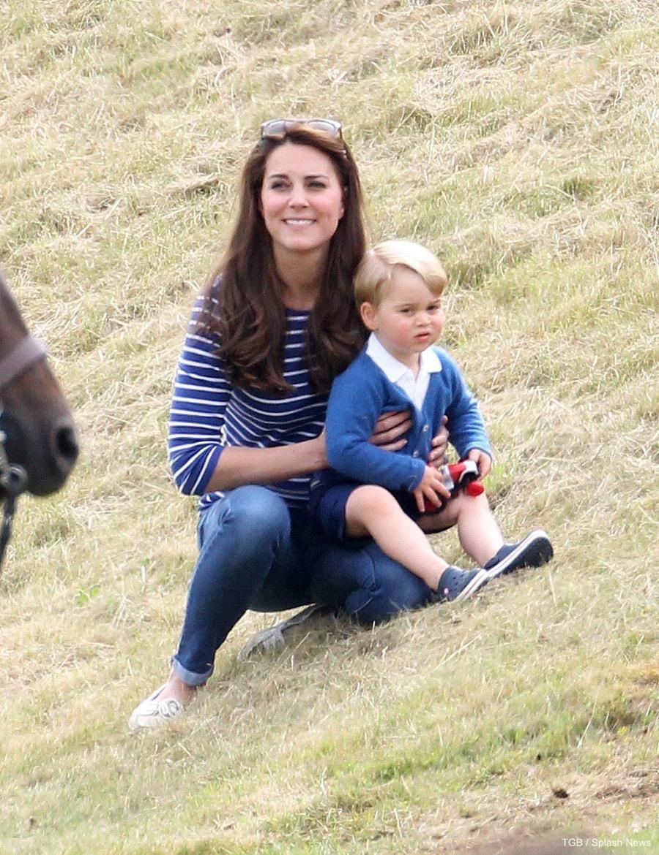Kate Middleton wearing a Breton Striped top