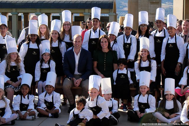 William and Kate pose with chefs at the taste of BC festival