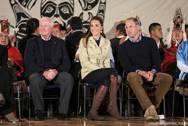 Kate Middleton wearing the brown leather Penelope Chilvers boots in Canada