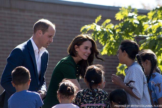William and Kate meet with university students at UBC