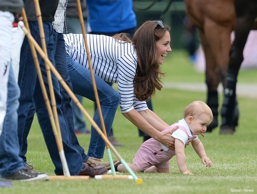 Kate Middleton wearing the striped Breton top