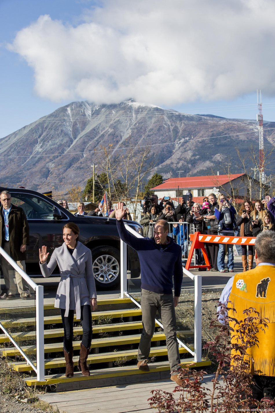 William and Kate in Yukon