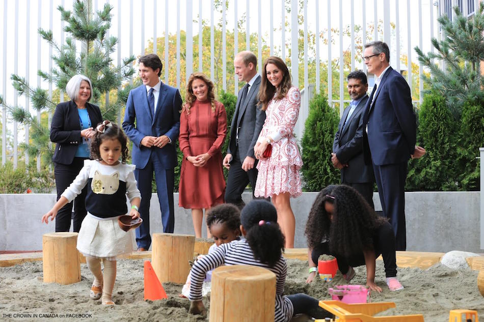 William and Kate meeting with parents and children at ISSBC