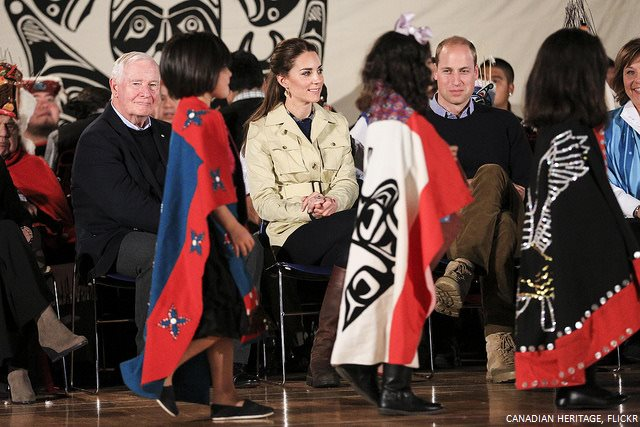 Kate Middleton meeting with Heiltsuk First Nations people