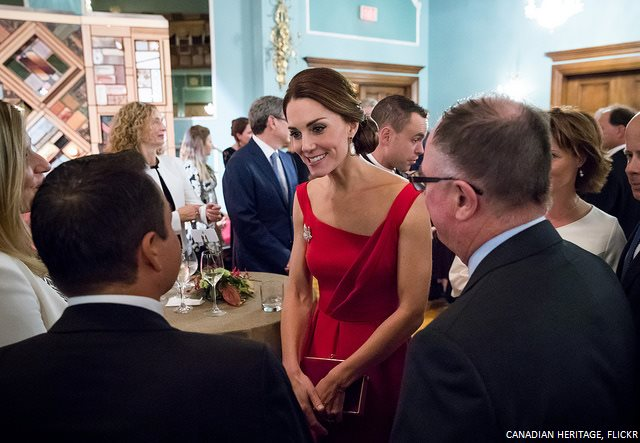 Kate Middleton at the reception in Victoria