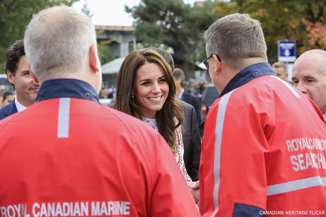 Kate meets first responders in Vancouver