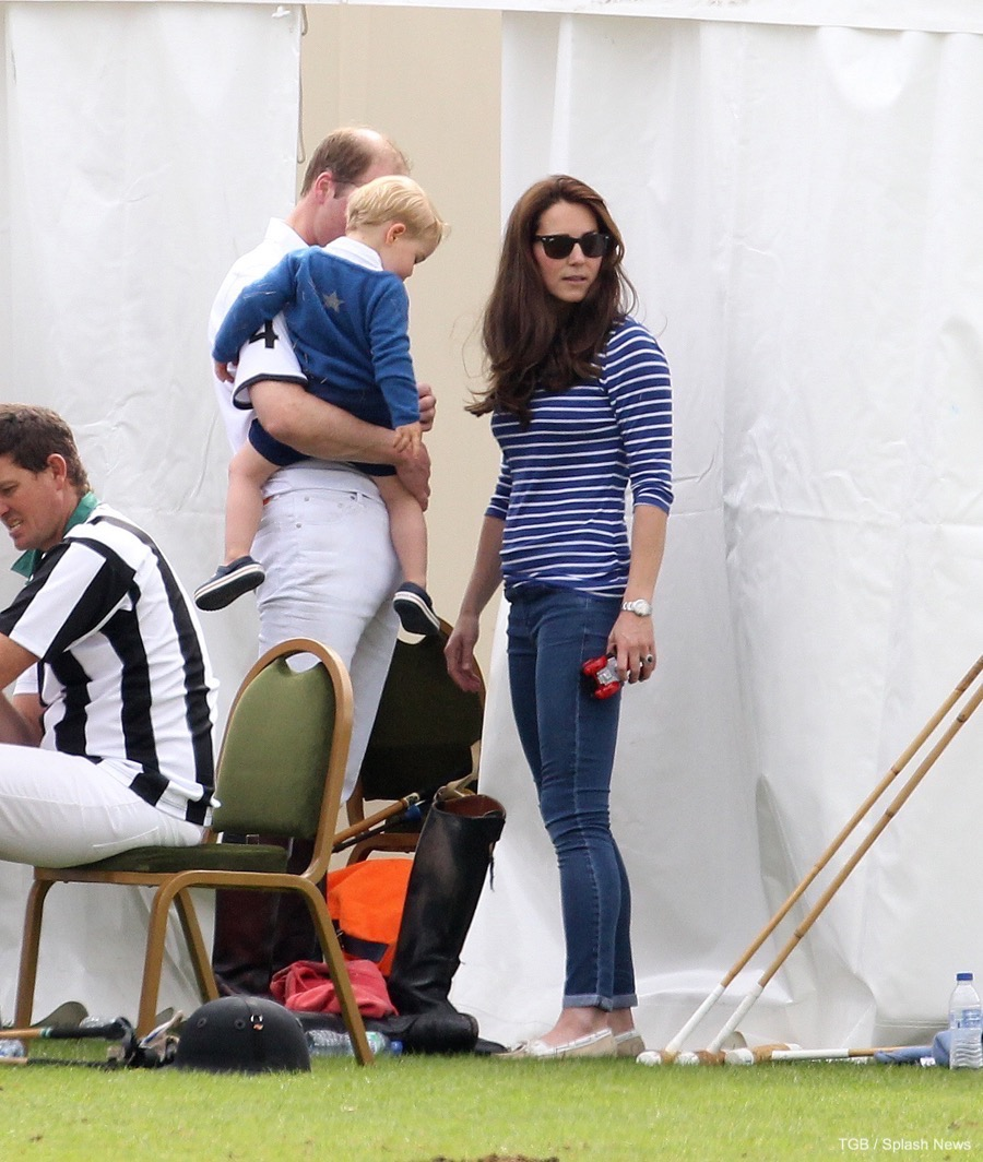 Kate Middleton wearing a Breton Striped top