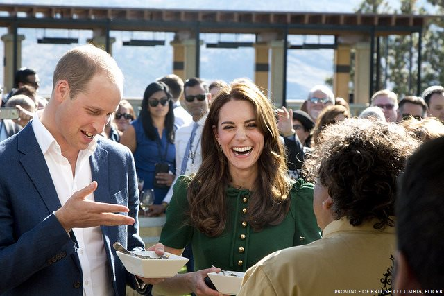 William and Kate meet Vikram Vij