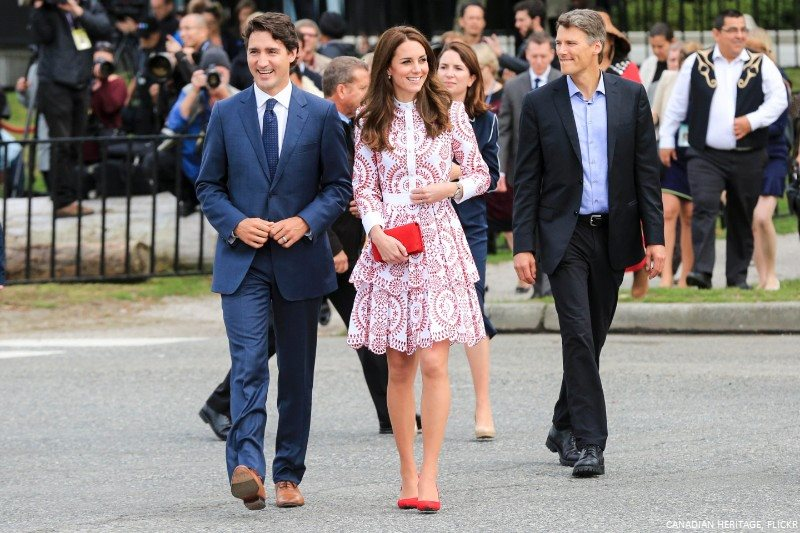 Kate Middleton and Justin Trudeau