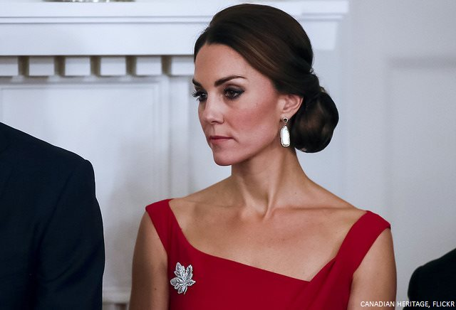 Kate Middleton wearing Soru pearl earrings in Victoria, Canada