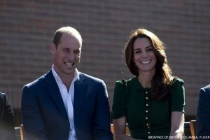Kate in green D&G dress and Hobbs London coat for day four