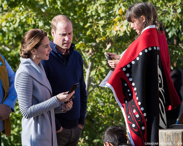 William and Kate meet children in Carcross, Yukon