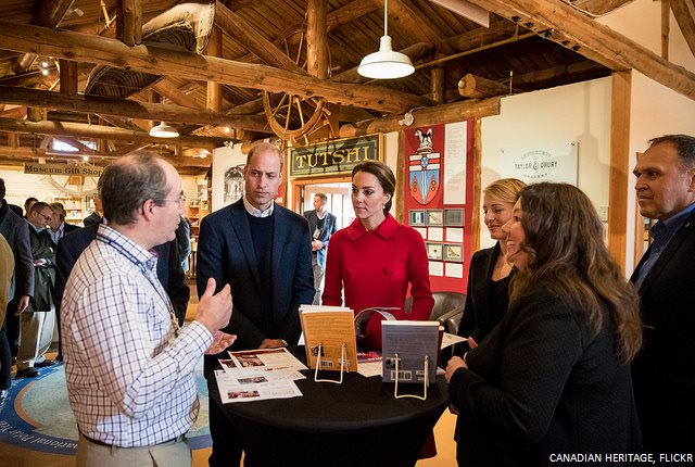 William and Kate look at Books in Yukon Museum
