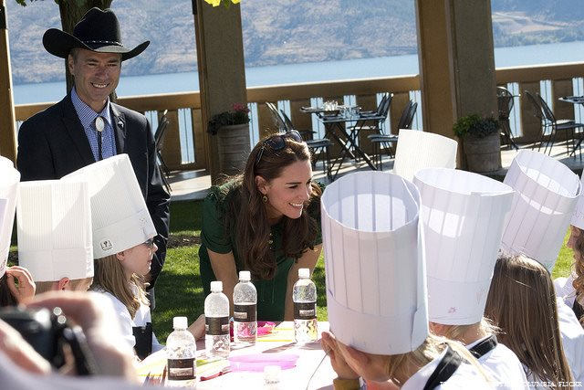 William and Kate meeting with young people at Taste of BC festival
