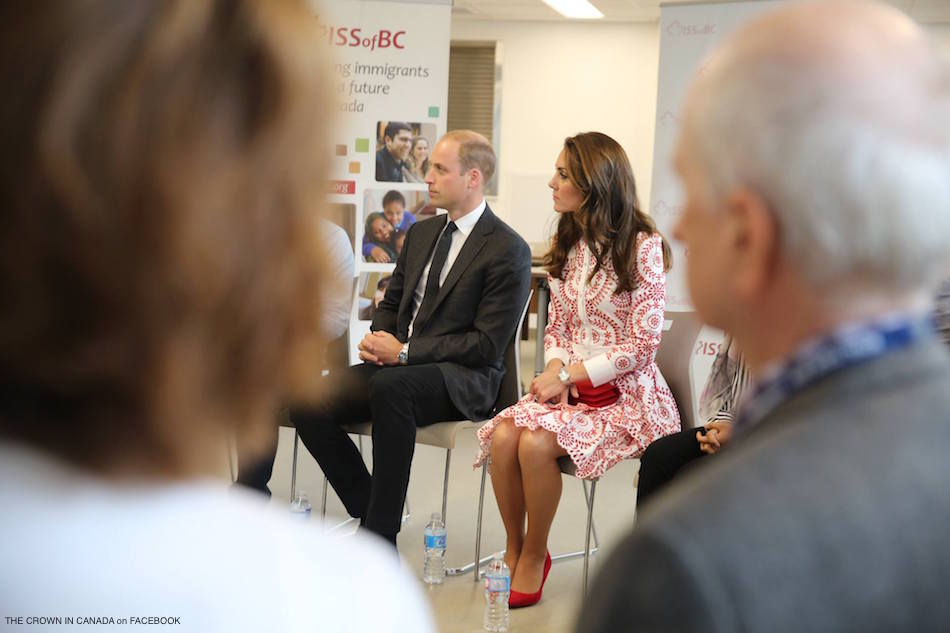 WIlliam and Kate listening at ISSBC